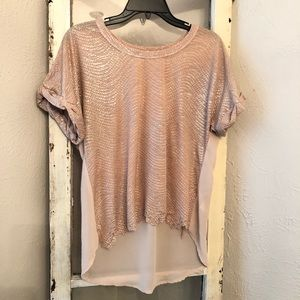 Miss Me Gold Blouse Size Small